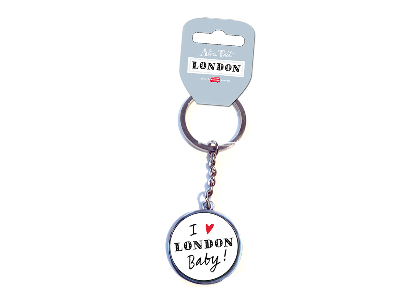 Alice Tait London I Love London Keyring