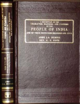 A Description of the Character, Manners and Customs of the Peoples of India