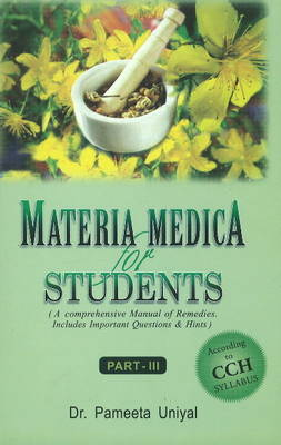Materia Medica for Students: Part III
