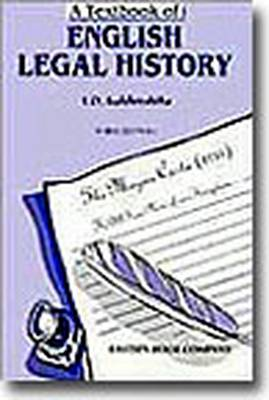 A Textbook of English Legal History