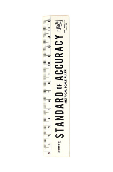 Penco White Wooden Ruler