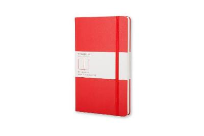 Scarlet Red Pocket Plain Hard Notebook