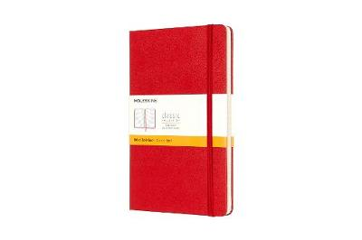 Scarlet Red Large Ruled Hard Notebook
