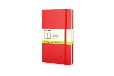 Scarlet Red Large Plain Hard Notebook