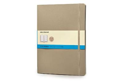 Khaki Beige Extra Large Dotted Soft Notebook