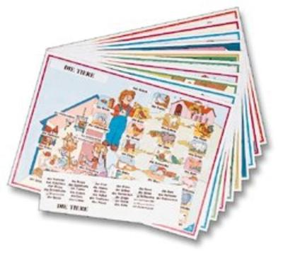 Active Posters: Set of 10 Posters with Italian Stickers