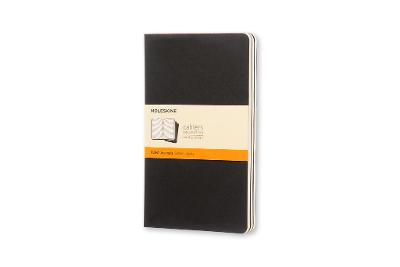 Cahier Large Ruled Black Notebook