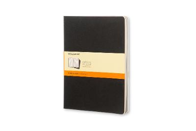 Cahier Extra Large Ruled Black Notebook