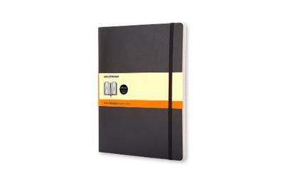 Classic Black Extra Large Ruled Soft Notebook