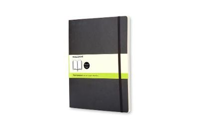 Classic Black Extra Large Plain Soft Notebook