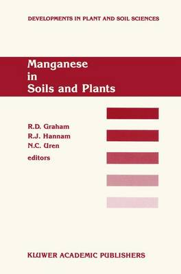 Manganese in Soils and Plants: Proceedings of the International Symposium on `Manganese in Soils and Plants' held at the Waite Agricultural Research Institute, The University of Adelaide, Glen Osmond, South Australia, August 22-26, 1988 as an Australian B