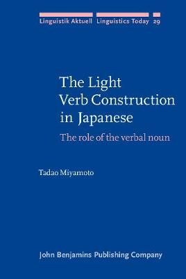 The Light Verb Construction in Japanese: The role of the verbal noun