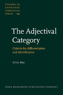 The Adjectival Category: Criteria for differentiation and identification