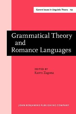 Grammatical Theory and Romance Languages: Selected papers from the 25th Linguistic Symposium on Romance Languages (LSRL XXV) Seattle, 2-4 March 1995