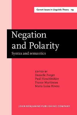 Negation and Polarity: Syntax and semantics. Selected papers from the colloquium Negation: Syntax and Semantics. Ottawa, 11-13 May 1995