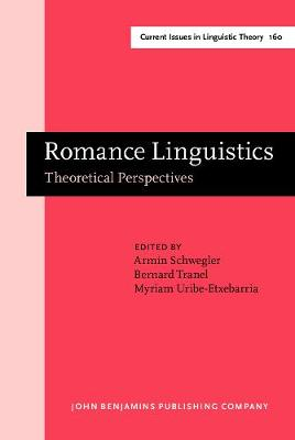 Romance Linguistics: Theoretical Perspectives. Selected papers from the 27th Linguistic Symposium on Romance Languages (LSRL XXVII), Irvine, 20-22 February, 1997