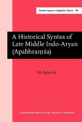 A Historical Syntax of Late Middle Indo-Aryan (Apabhraṃsa)