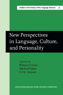 New Perspectives in Language, Culture and Personality: Edward Sapir Centenary Conference: Papers