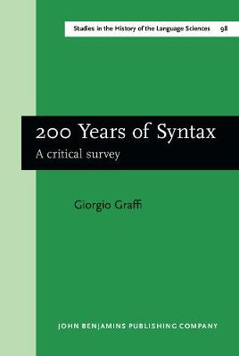 200 Years of Syntax: A critical survey