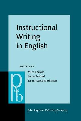 Instructional Writing in English: Studies in honour of Risto Hiltunen