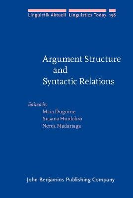 Argument Structure and Syntactic Relations: A cross-linguistic perspective