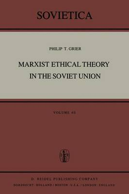 Marxist Ethical Theory in the Soviet Union