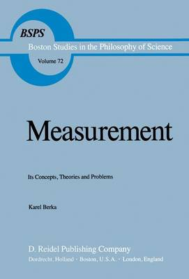 Measurement: Its Concepts, Theories and Problems