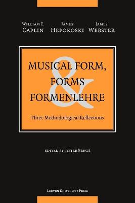Musical Form, Forms, and Formenlehre: Three Methodological Reflections