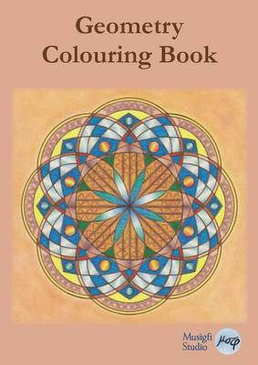 Geometry Colouring Book: Relaxing Colouring with Coloured Outlines and Appendix of Virtue Cards