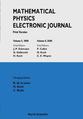 Mathematical Physics Electronic Journal - Print Version (Volumes 5 And 6)