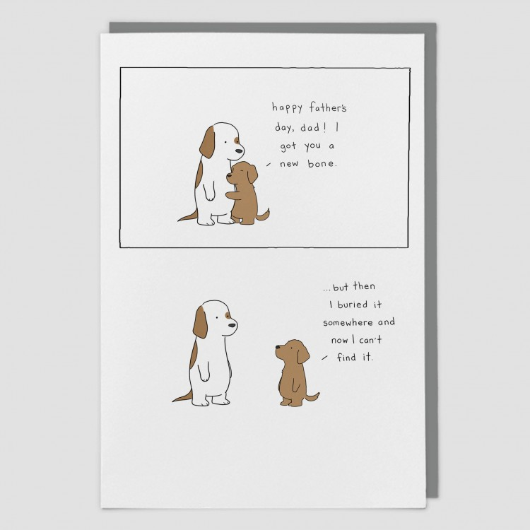 Bone Happy Fathers Day greeting card