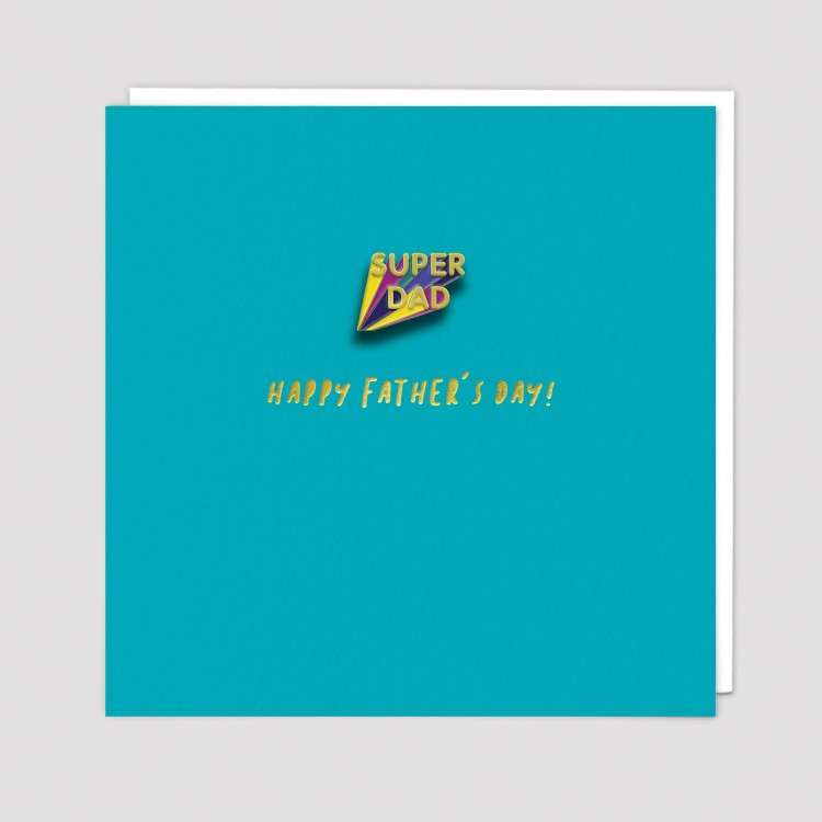Super Dad Happy Fathers Day Pin Badge...