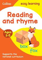 Reading and Rhyme Ages 3-5: New...