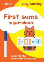First Sums Age 3-5 Wipe Clean ...