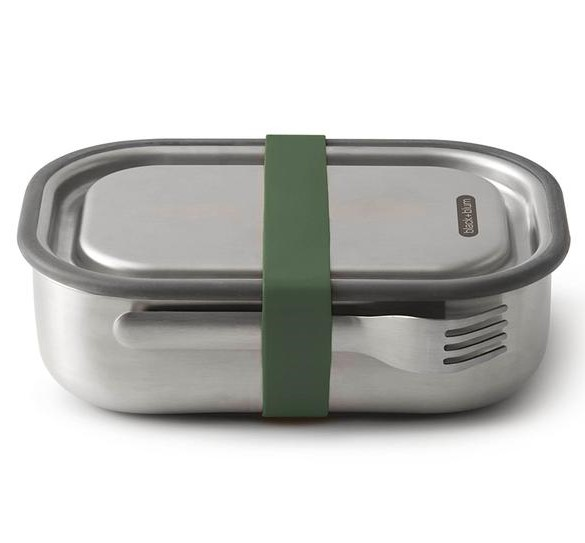 Stainless Steel Lunch Box Olive