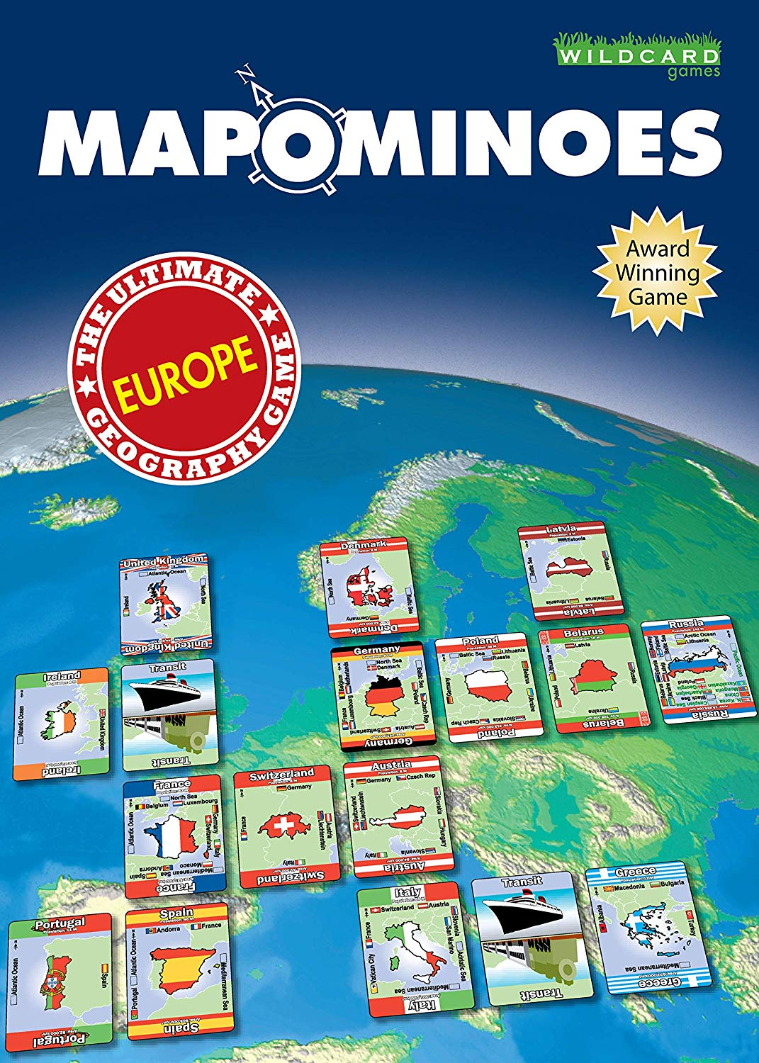 Mapominoes Europe Card Game