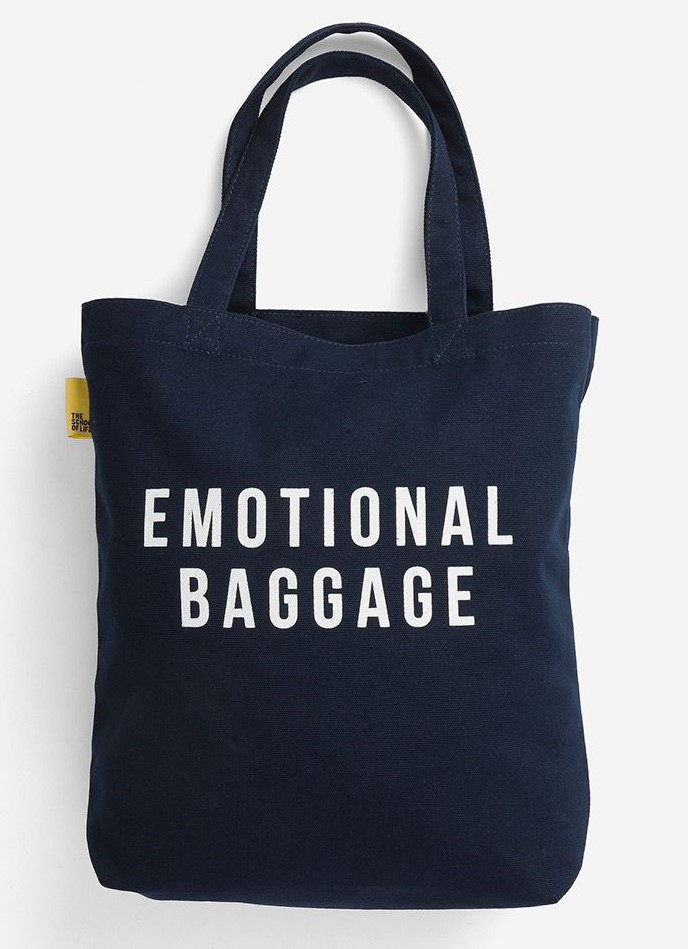 Emotional Baggage Navy Tote Bag