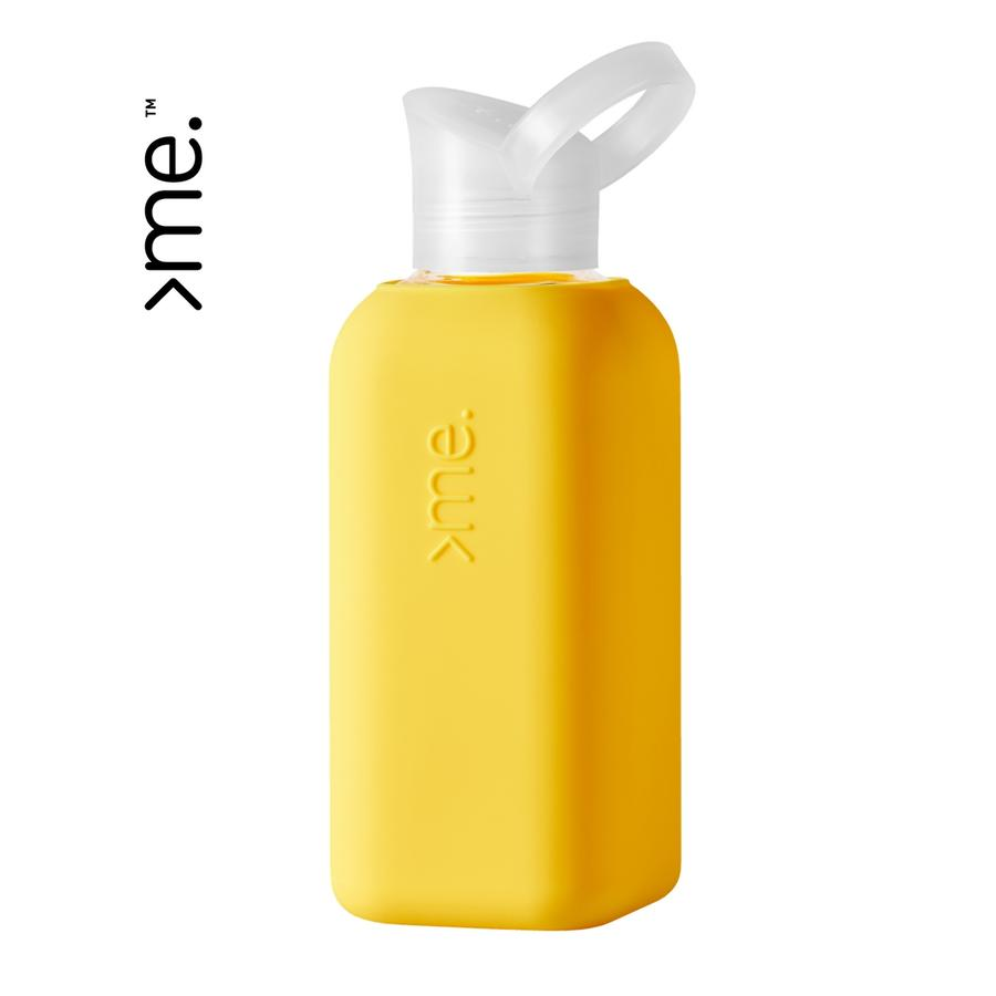 Squireme Yellow Glass Water Bottle