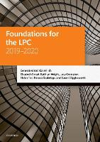 Foundations for the LPC 2019-2020