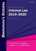 Blackstone's Statutes on Criminal Law...