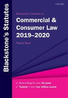 Blackstone's Statutes on Commercial &...