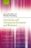 Continuity and Variation in Germanic...