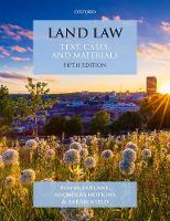 Land Law: Text, Cases and Materials