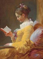 Young Girl Reading Notebook