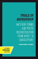 Trials of Authorship: Anterior Forms...