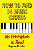 How To Find 84 Music Chords, No...