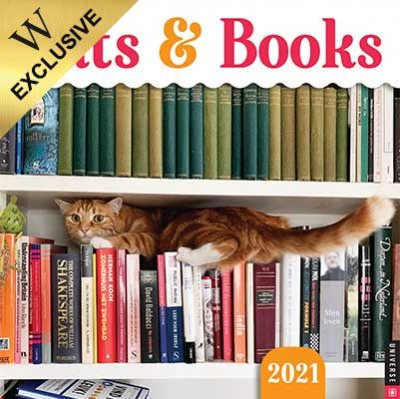 Cats & Books Wall Calendar 2021
