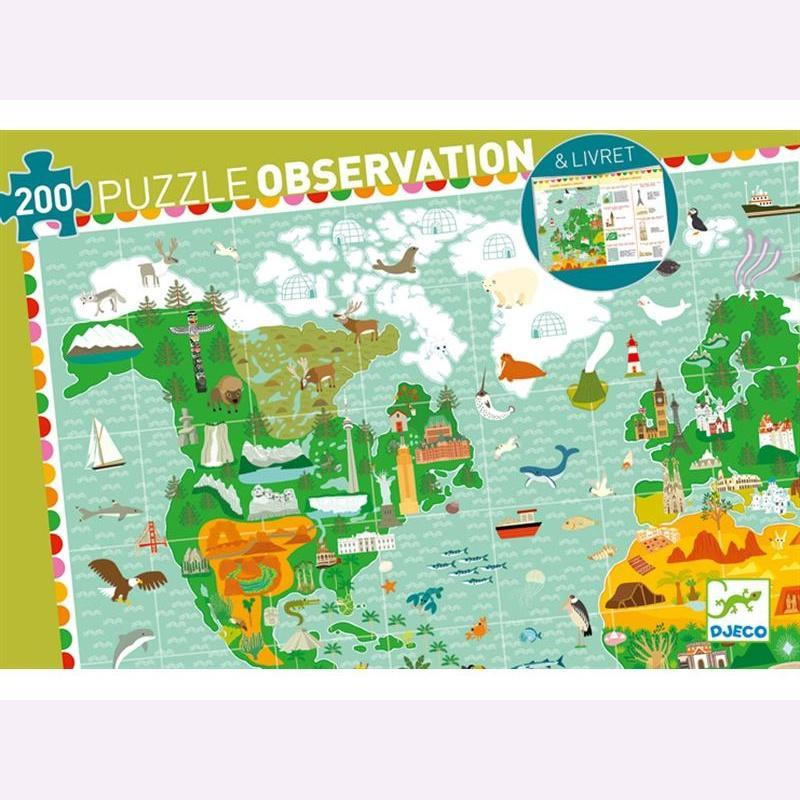 AROUND THE WORLD JIGSAW PUZZL