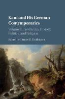 Kant and his German Contemporaries:...