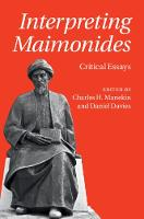 Interpreting Maimonides: Critical Essays